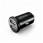 USB adaptér 2x (kovový, černý)